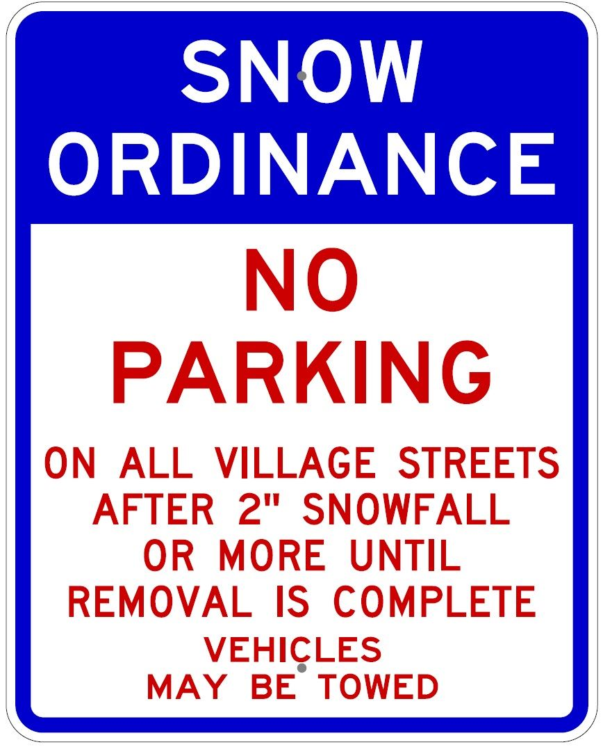 Snow Parking Sign